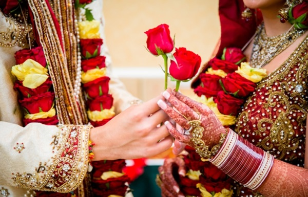 India wedding bride and groom