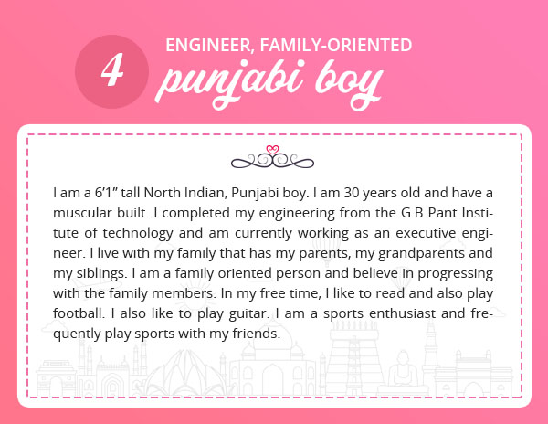 matrimony profile sample for engineer punjabi boy