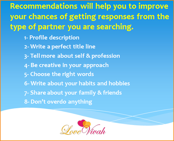 recommendation-matrimony-profile-creation