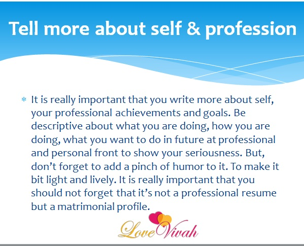 tell-more-about-self-profession