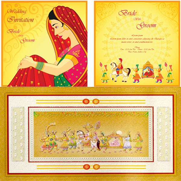 Choose a perfect wedding card online ease preparation burden indian marriage invitation card stopboris Images