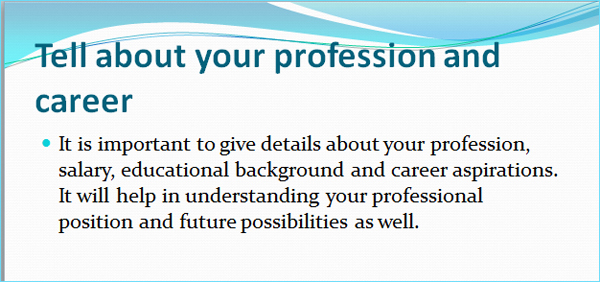 tell-about-your-profession-career