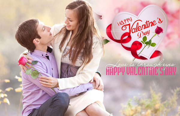 Valentine's couple with celebration