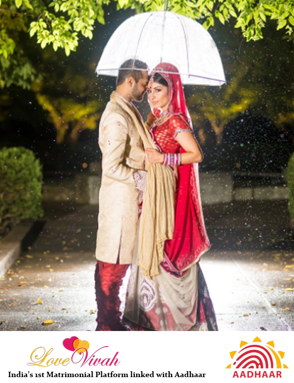 Monsoon Wedding Couple