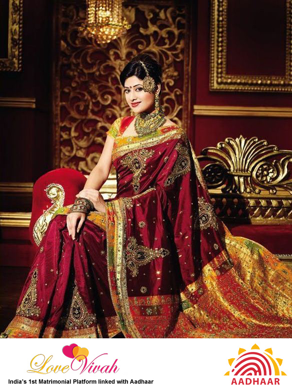 Banarasi silk saree for bride
