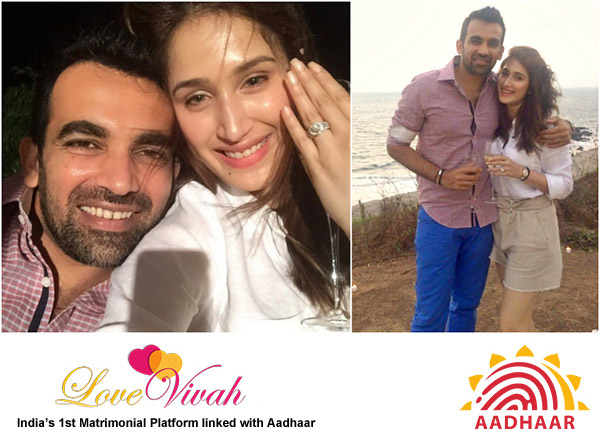 Zaheer Khan and Sagarika Ghatge Marriage Engagement
